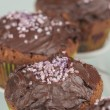 Stock Photo: Chocolate muffins series 06