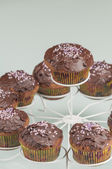 Chocolate muffins series 09 — Stock Photo