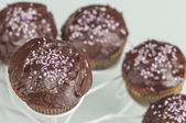 Chocolate muffins series 08 — Stock Photo
