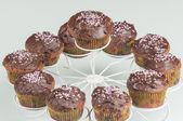 Chocolate muffins series 10 — Stock Photo