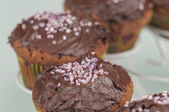 Chocolate muffins series 06 — Stock Photo