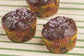 Chocolate muffins series 02 — Stock Photo