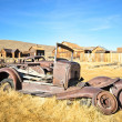 Old Ruined Metal Car in Ghost Town — Stock Photo