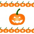 Halloween Pumpkins on Isolated White Background — Stock Photo
