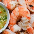 BBQ Tiger Prawn with Seafood Dip — Stock Photo