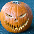 Halloween carved pumpkin — Stock Photo