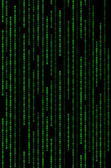 Vertical Green Binary Code Matrix Background — Stock Photo