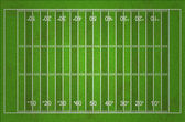 Grungy American Football Field with Dark and Light Grass Lines — Stock Photo