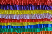 Rainbow crepe streamers decoration for St.Patrick's day — Foto de Stock