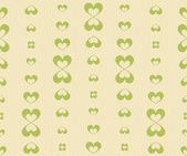 Retro Seamless Pattern with Green Hearts — Stock Vector