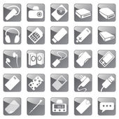 Phone and Computer Accessories Icon Set — Stock Vector