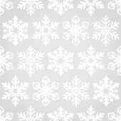 Snowflakes seamless pattern background — Stock Vector