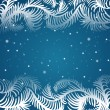 Vector frame of frosty pattern — Vector de stock