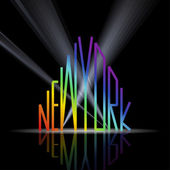 New York word in shape of the city — Stock Vector