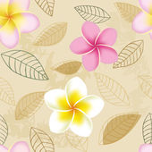 Abstract seamless pattern with plumeria flowers — Stock Vector
