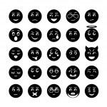 Vector smiley faces icon collection — Stock Vector