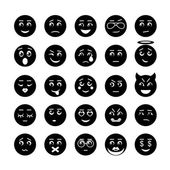 Vector smiley faces icon collection — Stock Vector