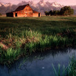 Old Barn Antelope Flats Grand Tetons Wyoming Vertical — Stock Photo