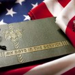 Memorial Day Veteran's Remembrance with Military Service album and flag. — Stock Photo #30872889
