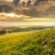 Dramatic Sunrise over the Kansas Tallgrass Prairie Preserve National Park — Stock Photo #30873439