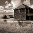 ghost town style ranch — Stock Photo