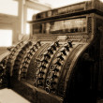 edad antigua caja registradora — Foto de Stock   #34833353
