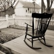 Old rocking chair — Stock Photo