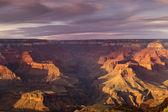 Ηλιοβασίλεμα πάνω από το grand canyon — Φωτογραφία Αρχείου
