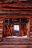 Old mining log cabin — Stock Photo