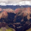 Rusty red Rocky Mountain Peaks — Stock Photo