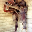 Weathered horse saddle — Photo