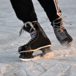 Stock Photo: Closeup aggressive ice skating