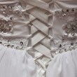Detail of wedding dress — Stock Photo