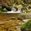 Mountain river stream with moss rocks — Stock Photo
