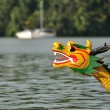 Head of dragon boat on the water — Stock Photo