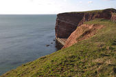 Helgoland cliff with ocean and sky — Photo