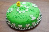 Lindo verde saboroso bolo — Fotografia Stock