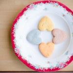 Cookies in heart shape — Stock Photo