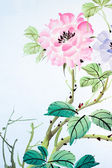 The flower painting — Stock Photo