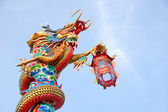 The dragon on the pole — Stock Photo