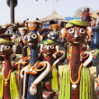 Traditional Clay figurine on sale in shop at a fair — Foto Stock