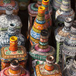Colorful Ceramic pottery, Vase, bottles for sale in a shop in the market. — ストック写真