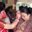 "Durga Puja 2013 : ""Sindoor Khela"" on the Day of Dashami — Foto de Stock"