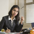 Thinking Indian Business woman — Stock Photo #34919943
