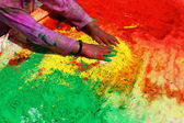 Holi- Festival of Colors in India — Stock Photo