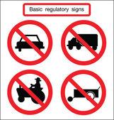Basic traffic sign no car — Stock Vector