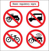 Basic traffic sign no bike — Stock Vector