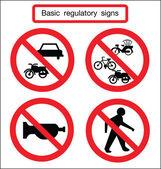 Basic traffic sign silent — Stock Vector