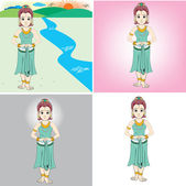 Princess cartoon — Stock Vector