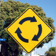 Stock Photo: Roundabout ahead